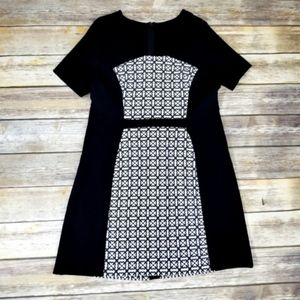 COAST Black and White Flowers Sheath Dress Sz12
